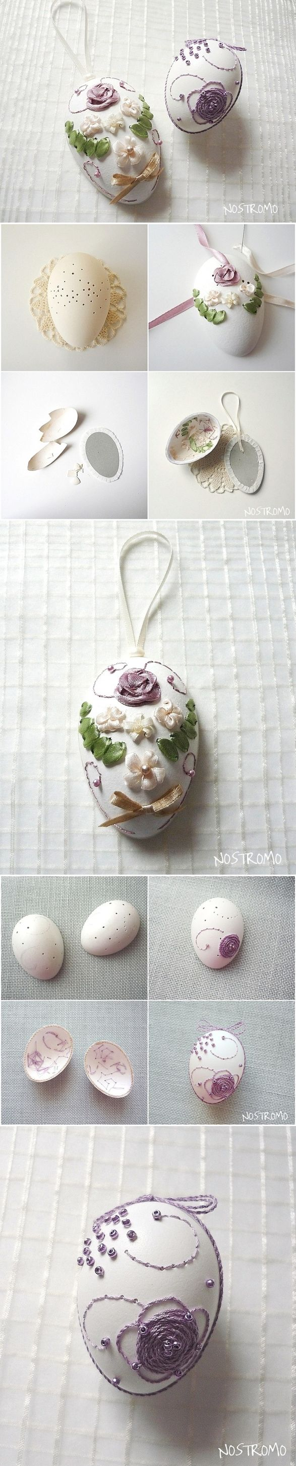 Eggshell Embroidery Tutorial