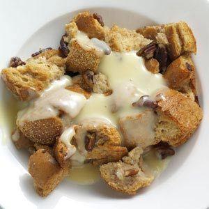 Pecan Bread Pudding with Rum Custard Sauce Recipe | Taste of Home ...