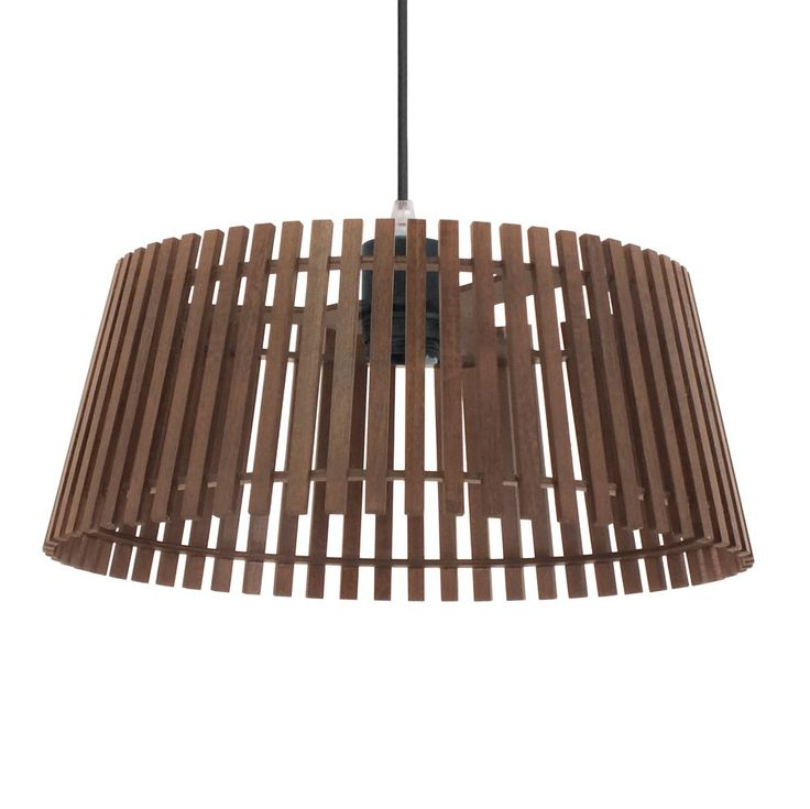The Narola Pendant light is constructed of wood with a Nut coloured finish. This light fitting has a unique design that creates a natural feel to any room. Eglo 94014