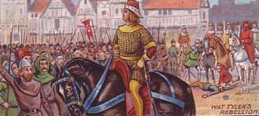 Wat Tyler leader of the peasants revolt.