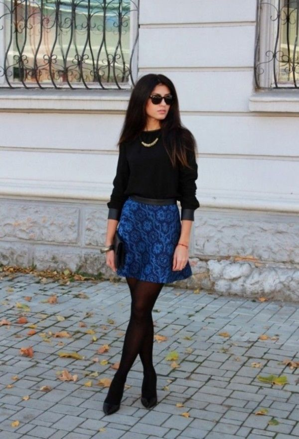 Sexy Winter Skirt Outfit Ideas (34)