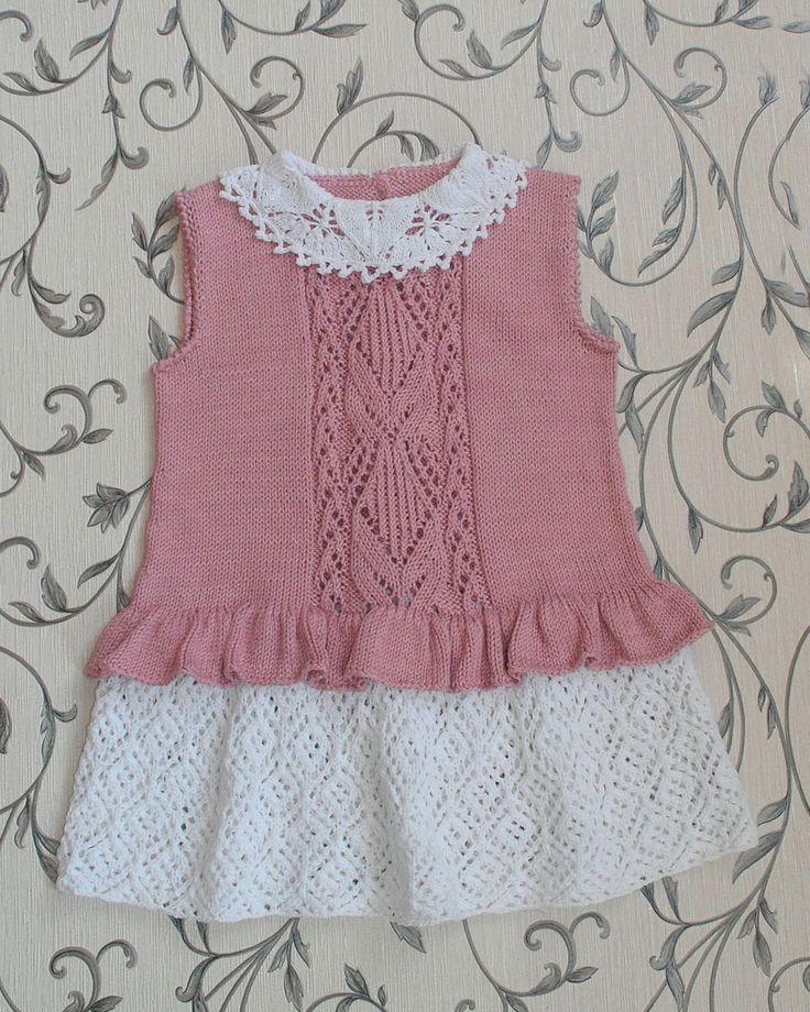 Knitting Skirt For Baby : E b ec orig детское платьице