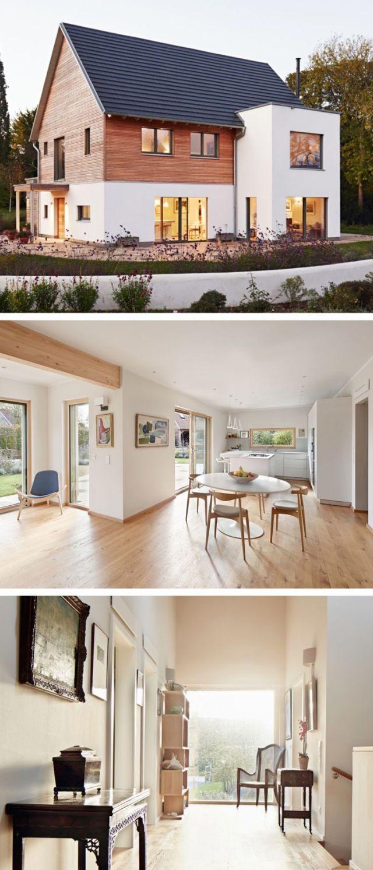 Casa moderna com arquitetura de telhado de duas águas e fachada de madeira – Casa pré-fabricada … – Ange …   – General