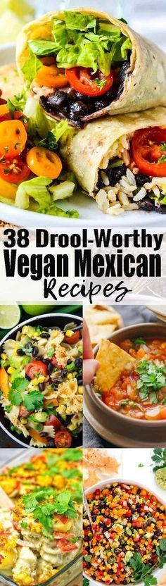If you like Mexican food, you will love these 38 vegan Mexican recipes! We've got vegan tacos, vegan burritos, vegan enchilada, and so much more! Vegan comfort food at its best! Find more vegan recipes at veganheaven.org