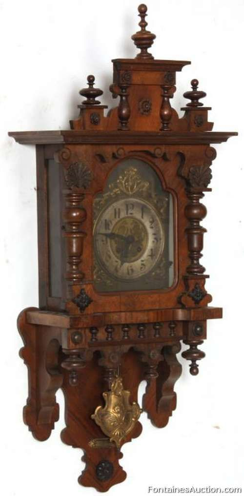Gustav Becker Spring Driven Wall Clock – LOT 154 Estimate: $400 – $600