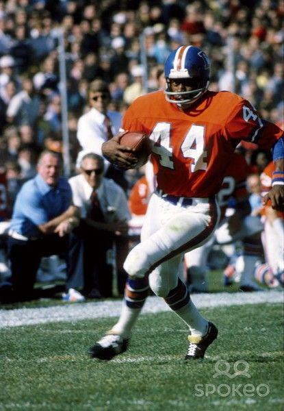 Denver Broncos running back Floyd Little (44)