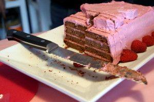 CCC Phoenix, Arizona - Romantic Cakes Angela Coates - Chocolate Raspberry Pound cake, inside view
