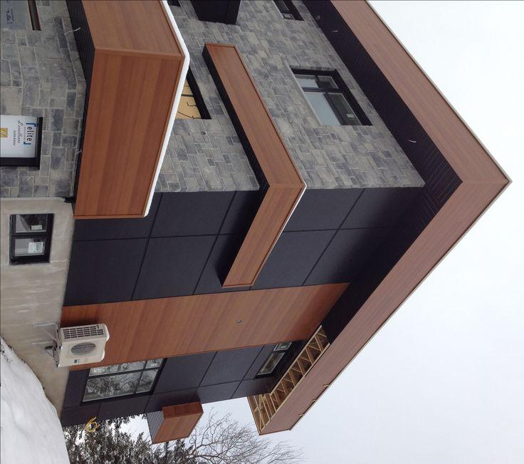 d clin d 39 acier c dre fibrociment noir minuit pierre. Black Bedroom Furniture Sets. Home Design Ideas