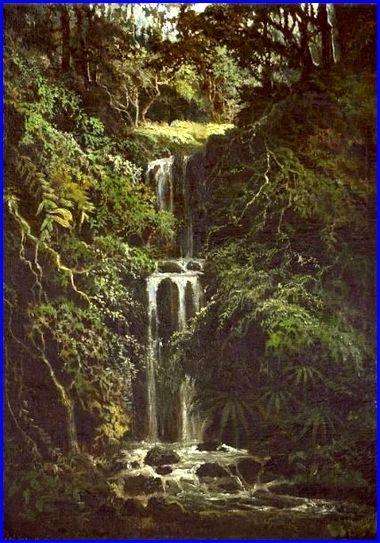 Cascade huile sur toile  61 x 50 cm Collection privée..JPG