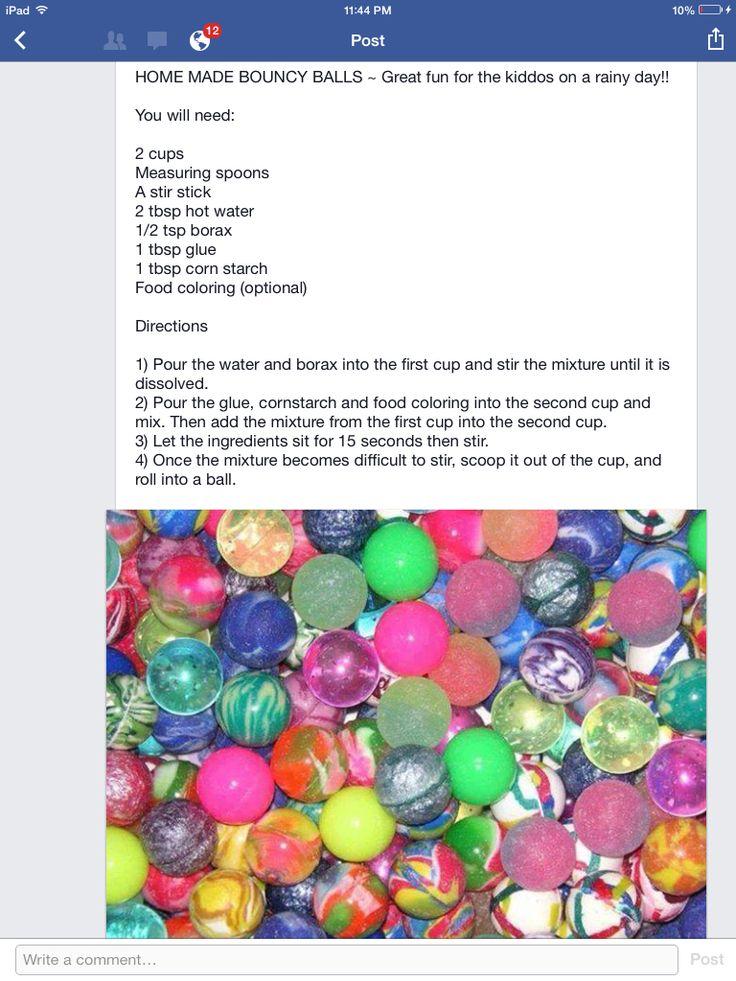 Homemade Bouncy Balls | Crafts for Kids | Pinterest ...