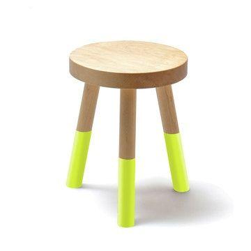 Yellow neon dipped stool