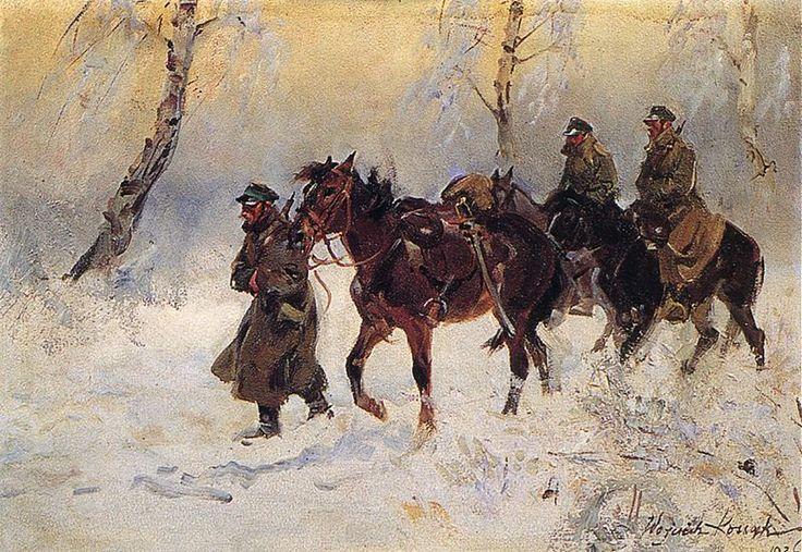 Wojciech Kossak - Ułani (Kawalerzyści), 1926