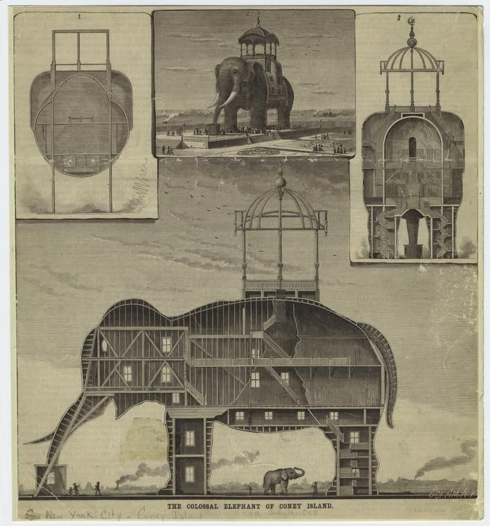 le colosal elephant of coney island