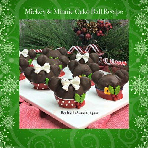 Mickey and Minnie Cake Balls Recipe - Basically Speaking
