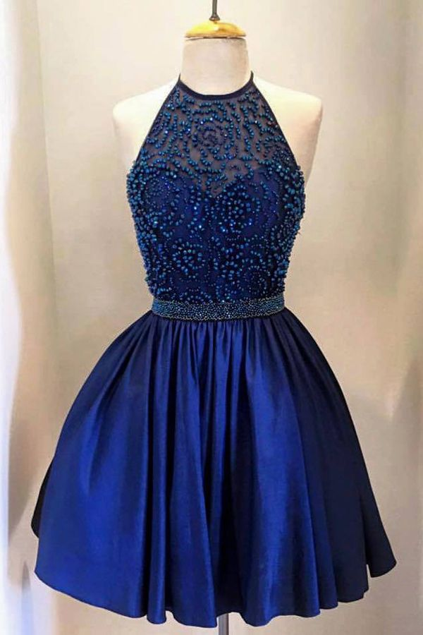 homecoming dresses,2016 homecoming dresses,royal blue homecoming dresses,halter…