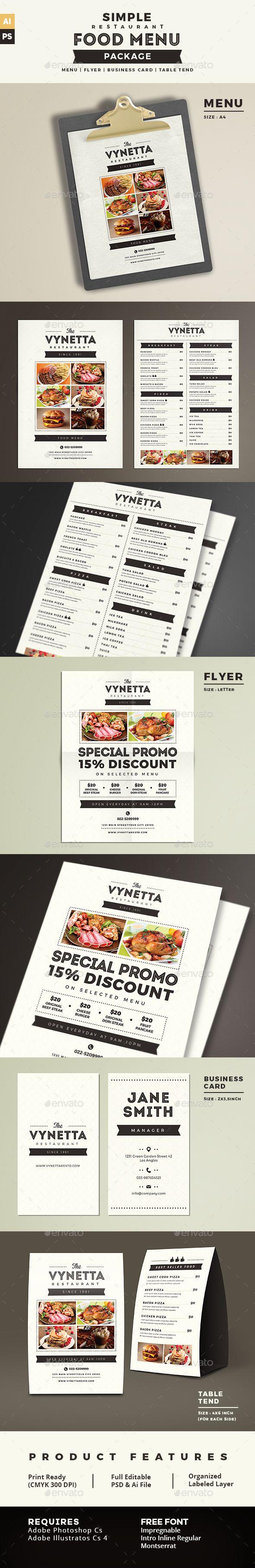 Mejores 1406 imágenes de Restaurant Flyer Design en Pinterest ...