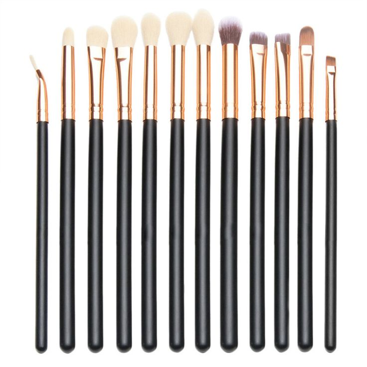 Professional Eye Makeup Brushes - 12 Piece Set