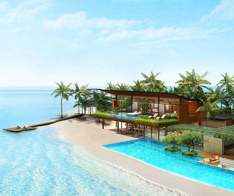Luxus Resort Coco Prive Insel Malediven Schlafzimmer