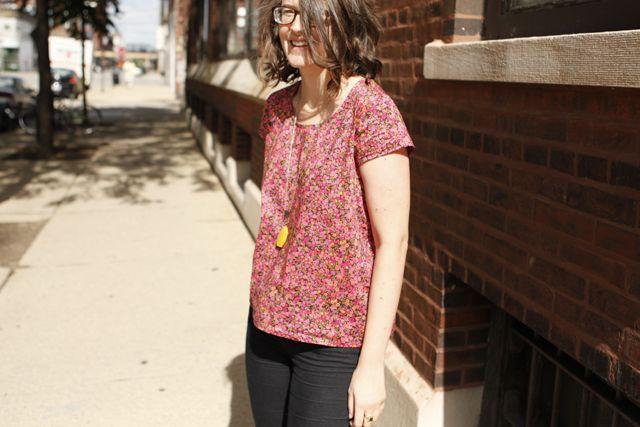 Scout tee in Liberty by Grainline-I have now made four of these shirts and I love them.