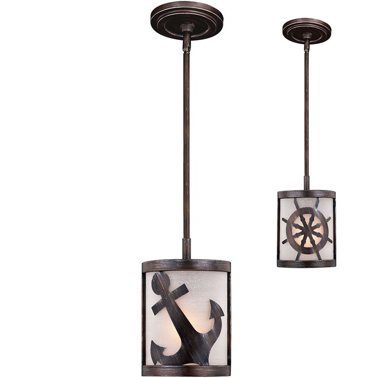 Vaxcel P0221 Nautique Sterling Bronze Mini Drop Ceiling Lighting - VXL-P0221