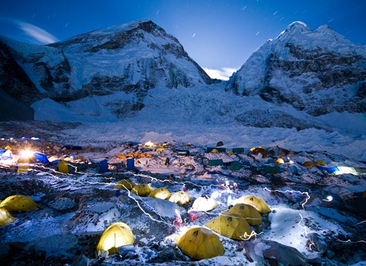 Hike to Everest Base Camp  Himalaya, Nepal  Over ten days, trekkers travel more than 60 miles (97 kilometers) at muscle-crippling altitudes of over 17,000 feet (5,182 meters).