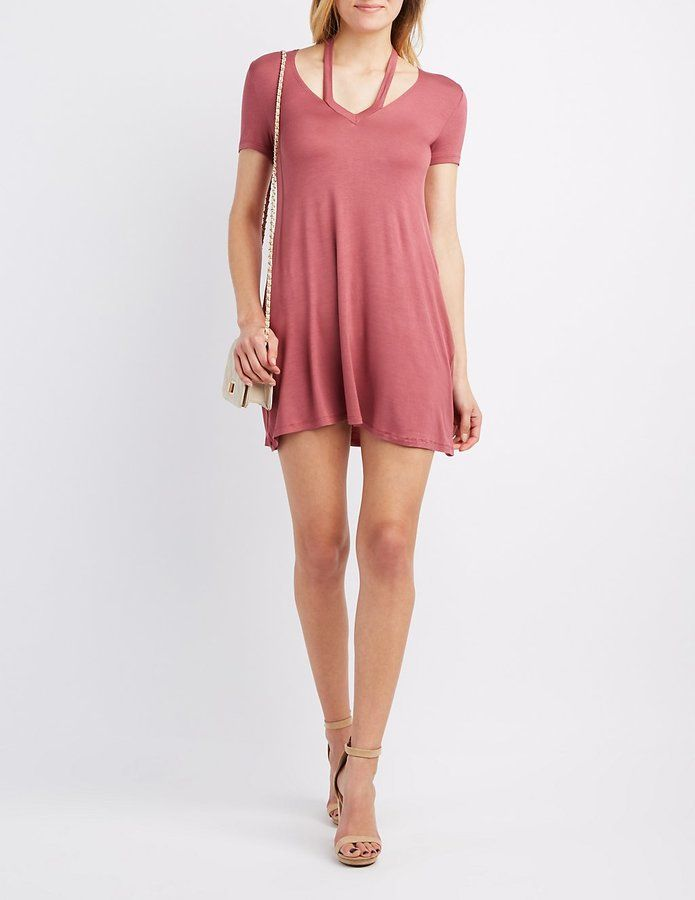 Charlotte Russe Strappy Swing Dress