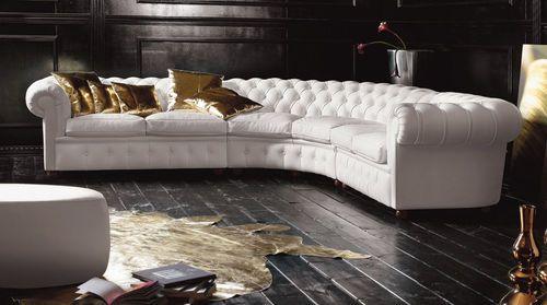 Corner sofa / traditional / leather / multiplace SENJOR  Valdichienti