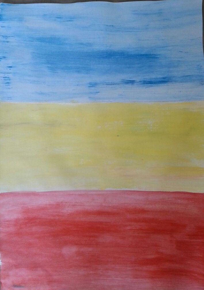 Background development for finals. Triadic colour scheme.
