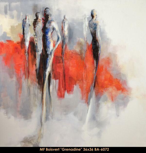 Marie-France Boisvert #Boisvert #art #CanadianArt #originalartwork #women #redbackground #mixtmedia #balcondart #multiartltee   #artist #mixedmedia #canadianartist #quebecartist  #originalpainting #contemporaryart  #fineart