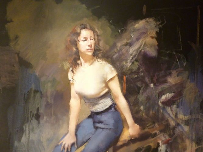 'Mary' by Robert Lenkiewicz. Available at PRIMAVERA gallery.