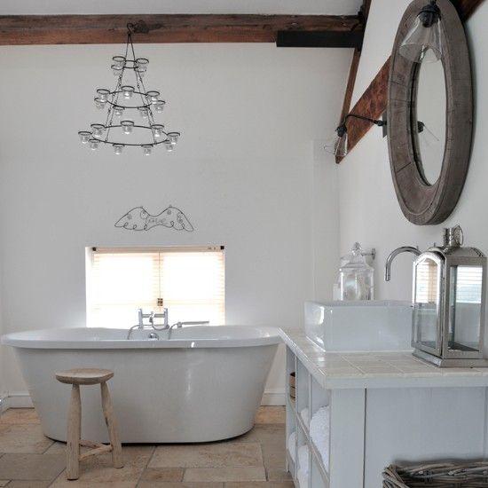 Original oak bathroom | Country decorating ideas | Ideal Home | Housetohome