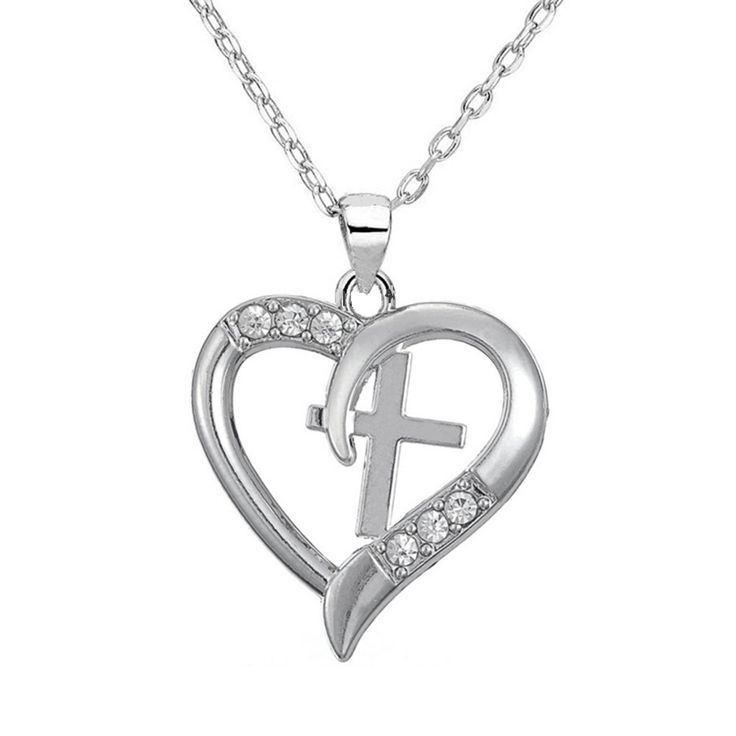 Aliexpress.com : Buy Silver Tone Christian Cross Heart Pendant I Love Jesus Necklace Beautiful Christmas Gift for Girl Teen Woman from Reliable cross necklace jewelry suppliers on Silver Jewelry Charm Factory