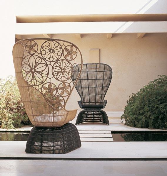 Crinoline Armchairs by B Italia  Designer: Patricia Urquiola