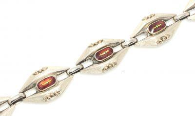 14 Ayar Altın ve Gümüş Mekik Modeli Bileklik
