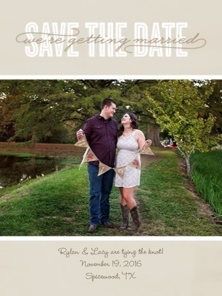 Keep in mind this is our Save the date - I would like it to somewhat stick with the fall/ rustic/ vineyard theme.