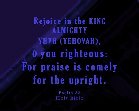 """YHVH (YEHOVAH) Padre: """"YHVH (YEHOVAH)  loves Righteousness and Judgment""""..."""