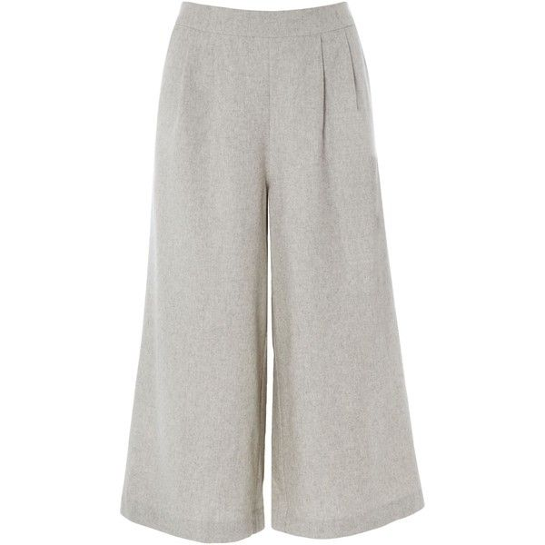 White Stuff Soft Heathered Culotte (29.810 CRC) ❤ liked on Polyvore featuring pants, capris, sale women trousers, white pants, white trousers, jogging trousers, jogger pants and white jogger pants