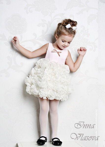 Клубничное мороженое нарядное платье - capelli bambini, flower girl dress, handmade
