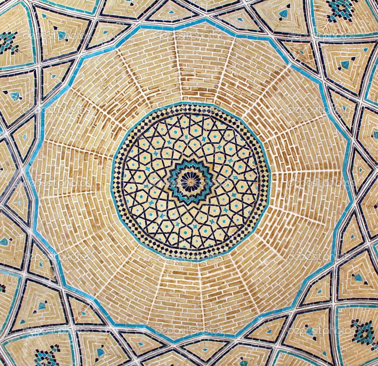 inside dome of a mosque