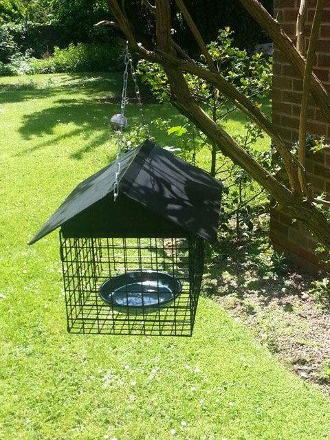Anti-Squirrel Bird Feeder  Small by ProtectedBirdFeeder on Etsy