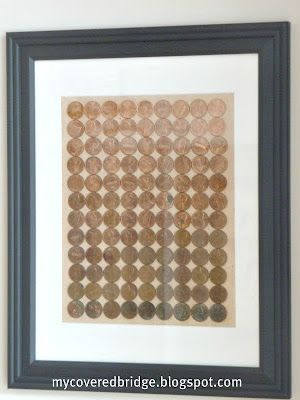 This is an awesome idea... I could probably fill a wall with these given how many pennies I have laying around!