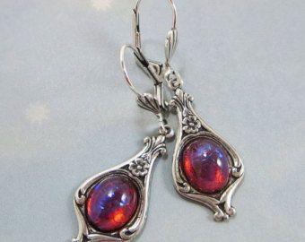 Dragons Breath Opal Ring  Red Opal Fire Opal Wrap Ring Dual
