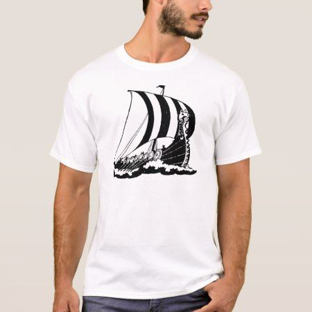 Viking Boat ~ Vintage Ship Boats Marine Art T-Shirt - tap to personalize and get yours