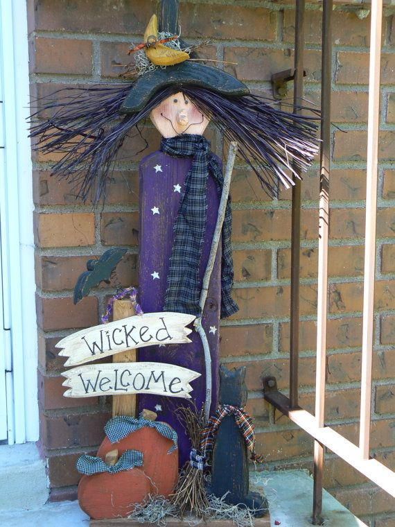 Wicked Welcome Witch Pattern by BerryHollowDesigns on Etsy, $6.00