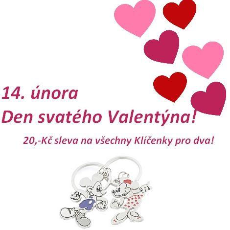 Den svatého Valentýna! 14. únor se blíží.   Nezapomeňte na své nejbližší a milované. I malá pozornost je mnohdy velkým darem.  http://www.faverion.cz/kategorie/klicenky-pro-dva/  Nyní speciální valentýnská akce do 14.2.2016 klíčenky pro dva se slevou 20,-Kč