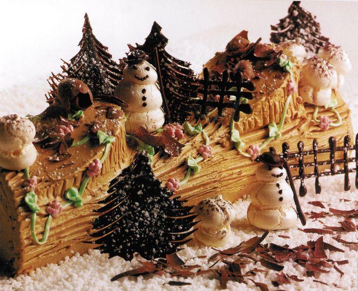 21 best yule logs images on pinterest christmas desserts. Black Bedroom Furniture Sets. Home Design Ideas