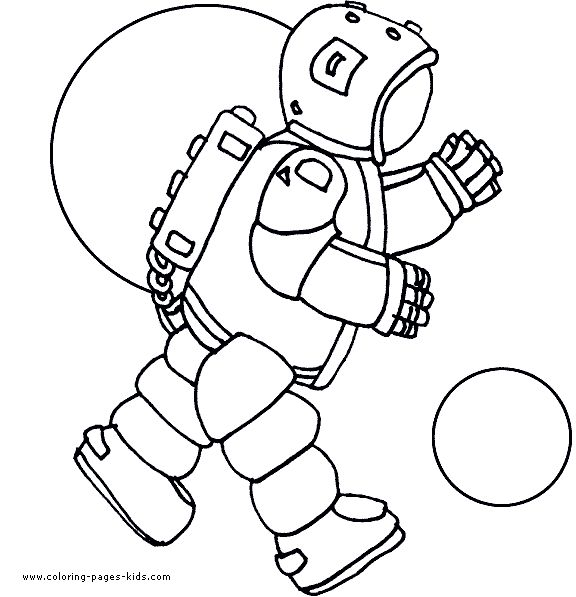 Astronaut Space Aliens Color Page Fantasy Medieval Coloring Pages Plate Sheet