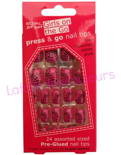 24-faux-ongles-autocollants-rose-et-noir-panthere-panther-self-adhesive-nails 8