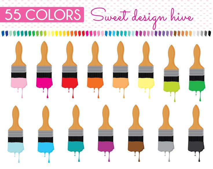 Paint Brush Clipart, Wall Paint brush clipart, Planner Stickers, scrapbooking, Commercial Use, PL0058 by Sweetdesignhive on Etsy