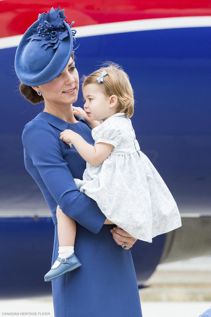 Kate looks chic in a blue dress upon arrival to Victoria in British Colombia, Canada. The Duchess is accompanied by William, Charlotte and George too.
